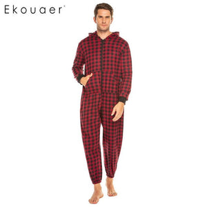One-piece Hooded Pajama Male Soft Homewear Suits