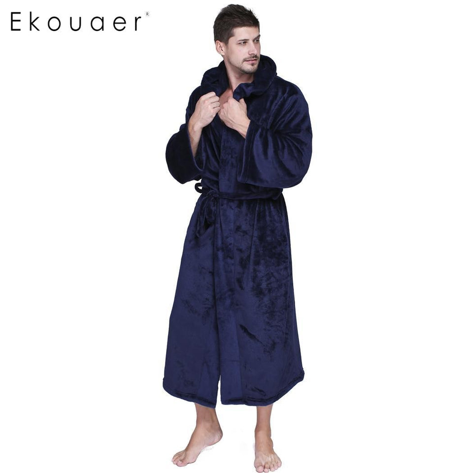 Plush Bathrobe Gentlemen's Homewear Lounges Sleep Robe