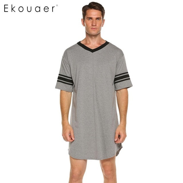 Soft Comfortable Loose Sleep Shirt Male Home Clothing