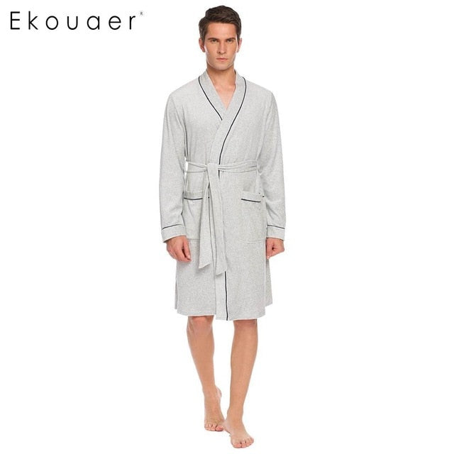 Soft Robe Dressing Gown Nightwear Long Sleeve