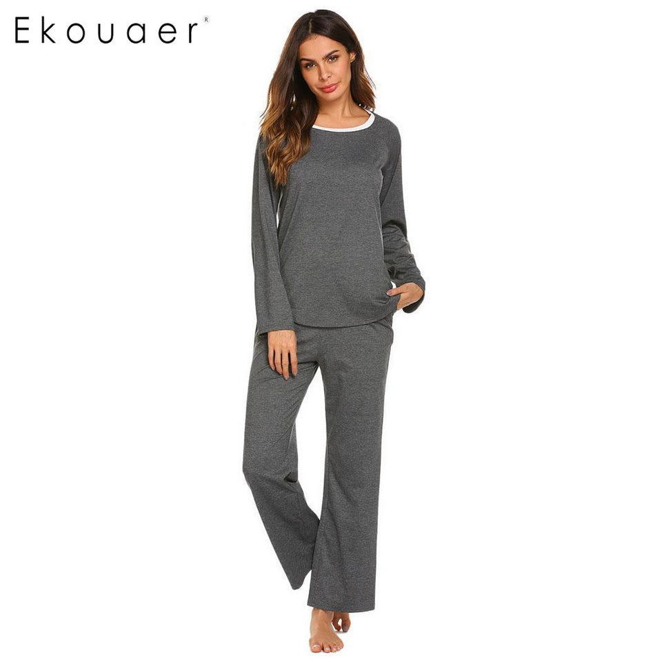 Women Autumn Winter Pajamas Set