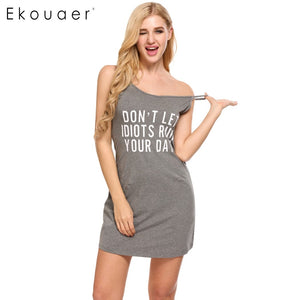 Sexy V-Neck Dress Slim Home Clothes Nightwear