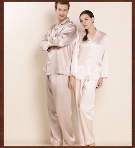 High Quality 100% Mulberry Silk Men Real Silk Pajamas Women