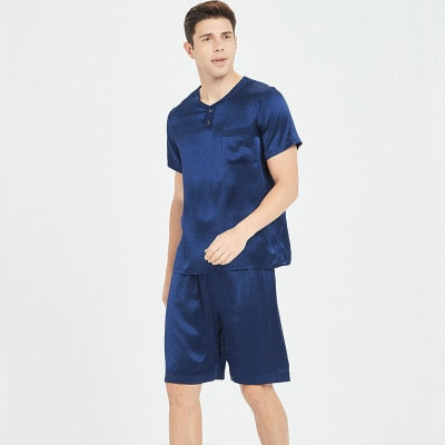 Silk Pyjamas Set Men's Sexy Pajamas Sleepwear