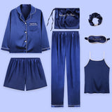 Home Clothes 7 piece suit Set Satin Pyjamas Sex