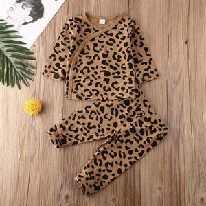 Baby Boys Girls Pajamas Set Print Leopard Sleepwear-PJS.Cool