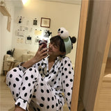 Pajamas For Women Cartoon Printed Female Pyjamas Suit Sleepwear Casual - PJS.Cool