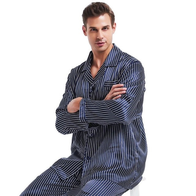 Silk Pajamas Set Pajama Pyjamas PJS  Sleepwear Set Loungewear - PJS.Cool