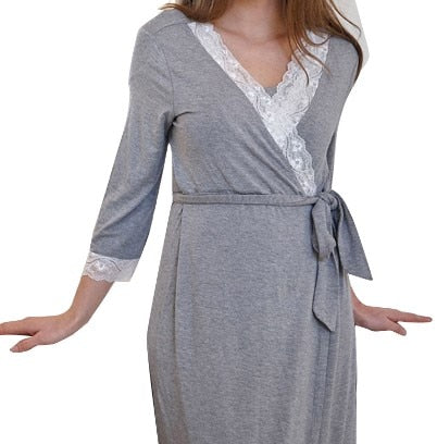 Super Soft Bath Robe Lace Pijama Sleepwear Nightgown Homewear - PJS.Cool