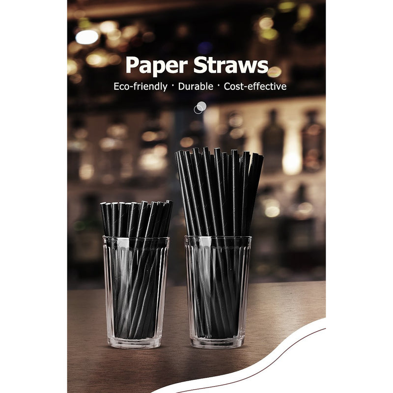 "5.9"" 4-Layer Bio-degradable Unwrapped Cocktail Paper Straw - 100/Pack - TheBuyersClub.ca"