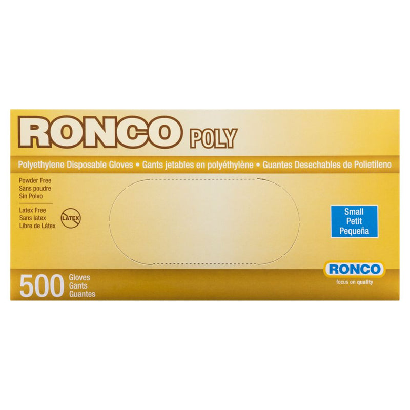 RONCO® Polyethylene Disposable Glove, Clear, 500/Pack - TheBuyersClub.ca