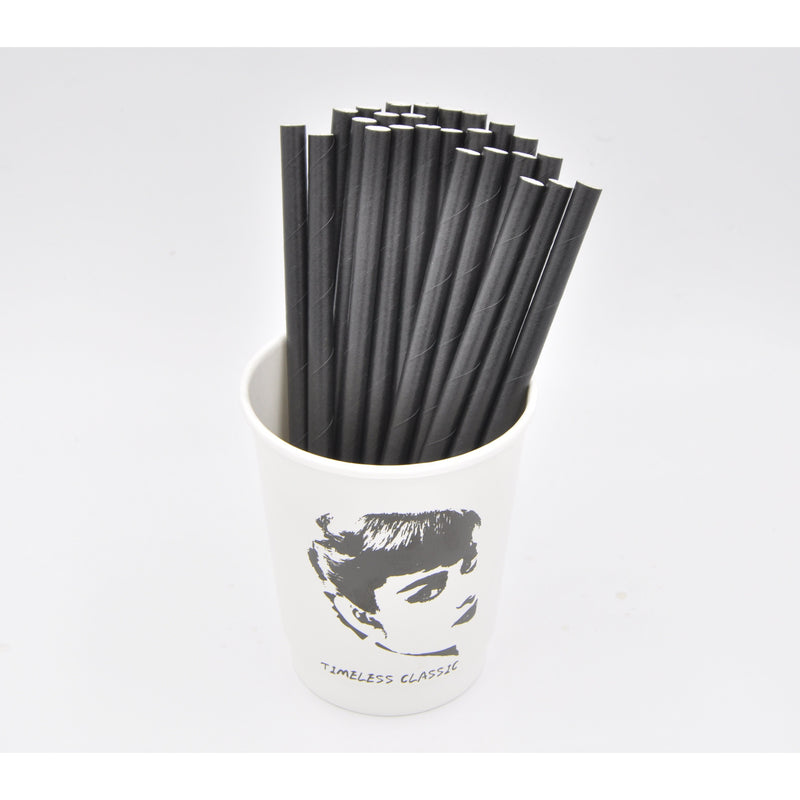 "7.8"" 4-Layer Bio-degradable Unwrapped Paper Straw - 100/Pack - TheBuyersClub.ca"