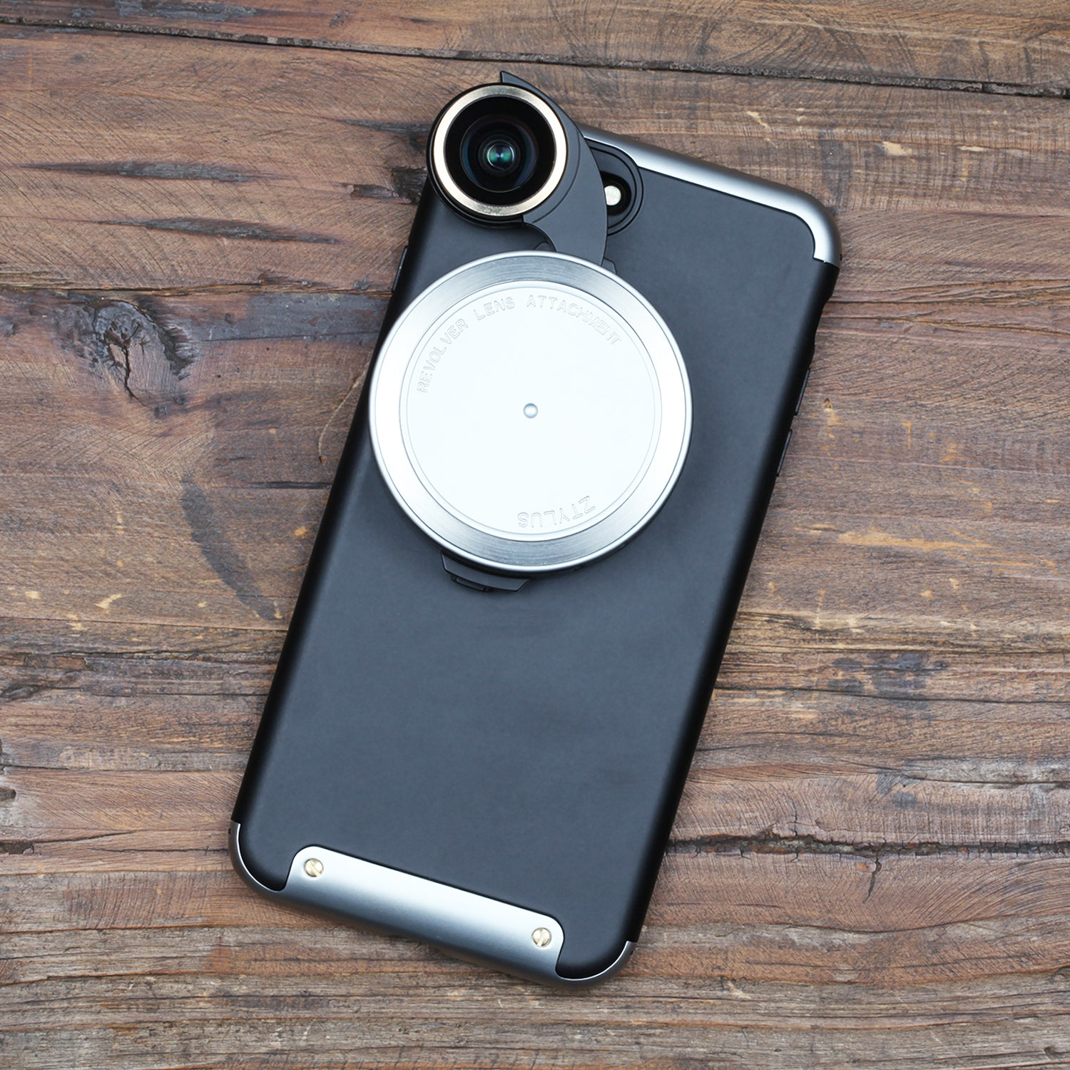 Revolver Lens Kit for iPhone 7 Plus - Silver Edition