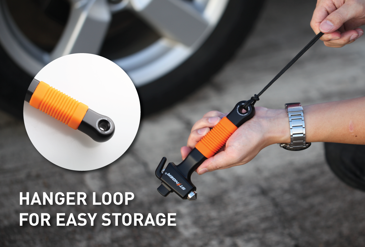 Stinger Ztylus Car Emergency Escape and Rescue Tool: Super Duty Vehicle Traditional Glass Hammer, Spring Loaded Window Breaker Punch, Razor Sharp Seatbelt Cutter