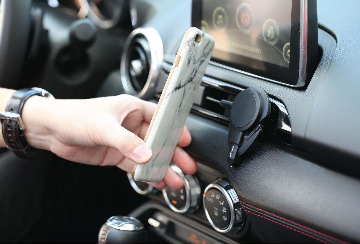 Stinger Car Vent Mount Phone Holder Emergency Tool with Stick-on Adapter Combo
