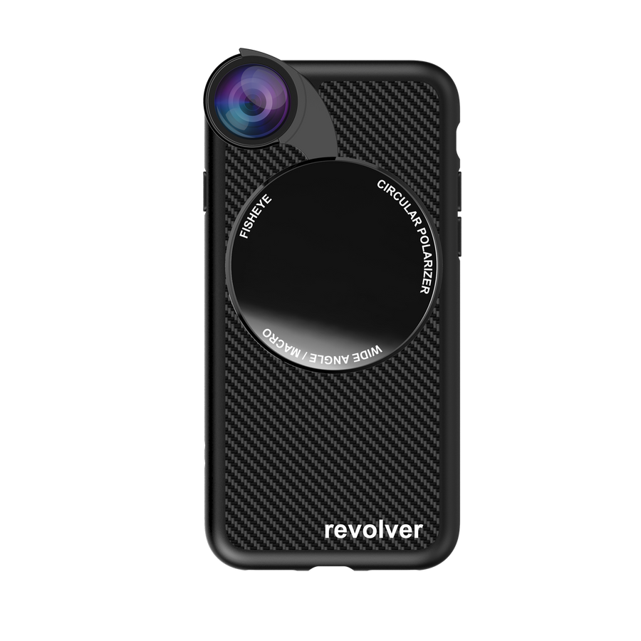 iPhone 7 / 8 Revolver M Series Lens Kit - Carbon Fiber (Black)