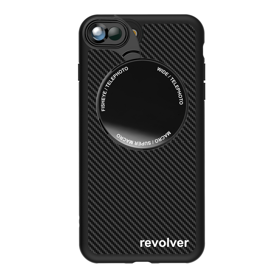 iPhone 7 Plus / 8 Plus Revolver M Series Lens Kit - Carbon Fiber (Black)