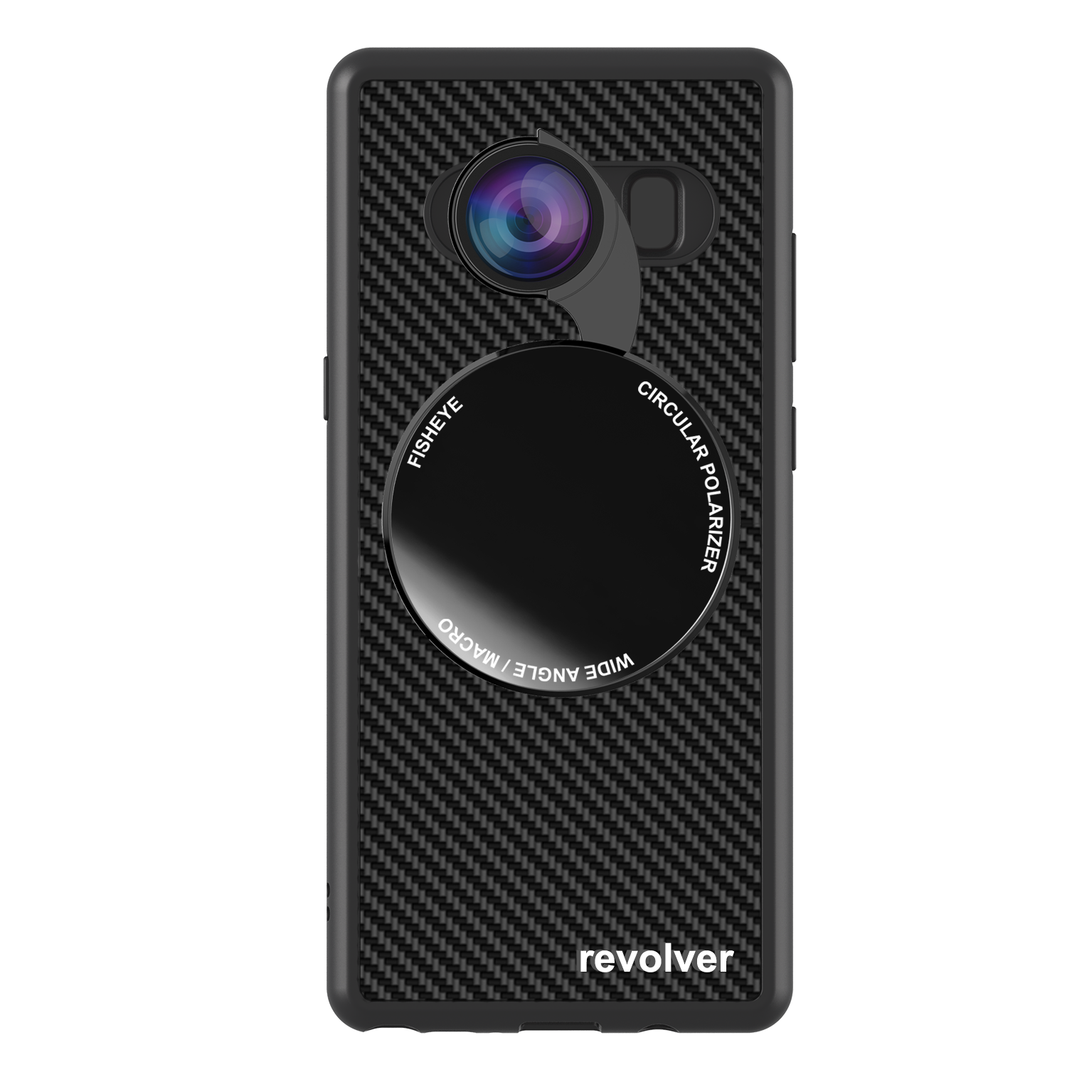 4-in-1 Revolver Lens Kit for Samsung Galaxy Note 8 - Gloss Black