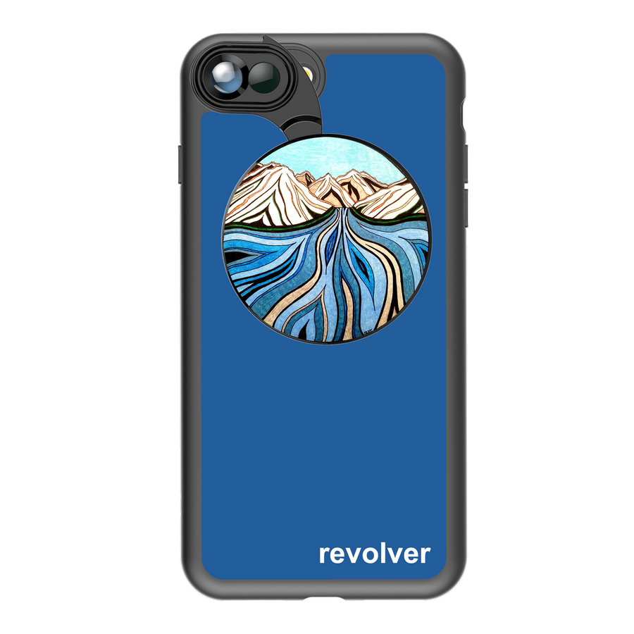 iPhone 7 Plus / 8 Plus Revolver M Series Lens Kit - Glacial River Blue