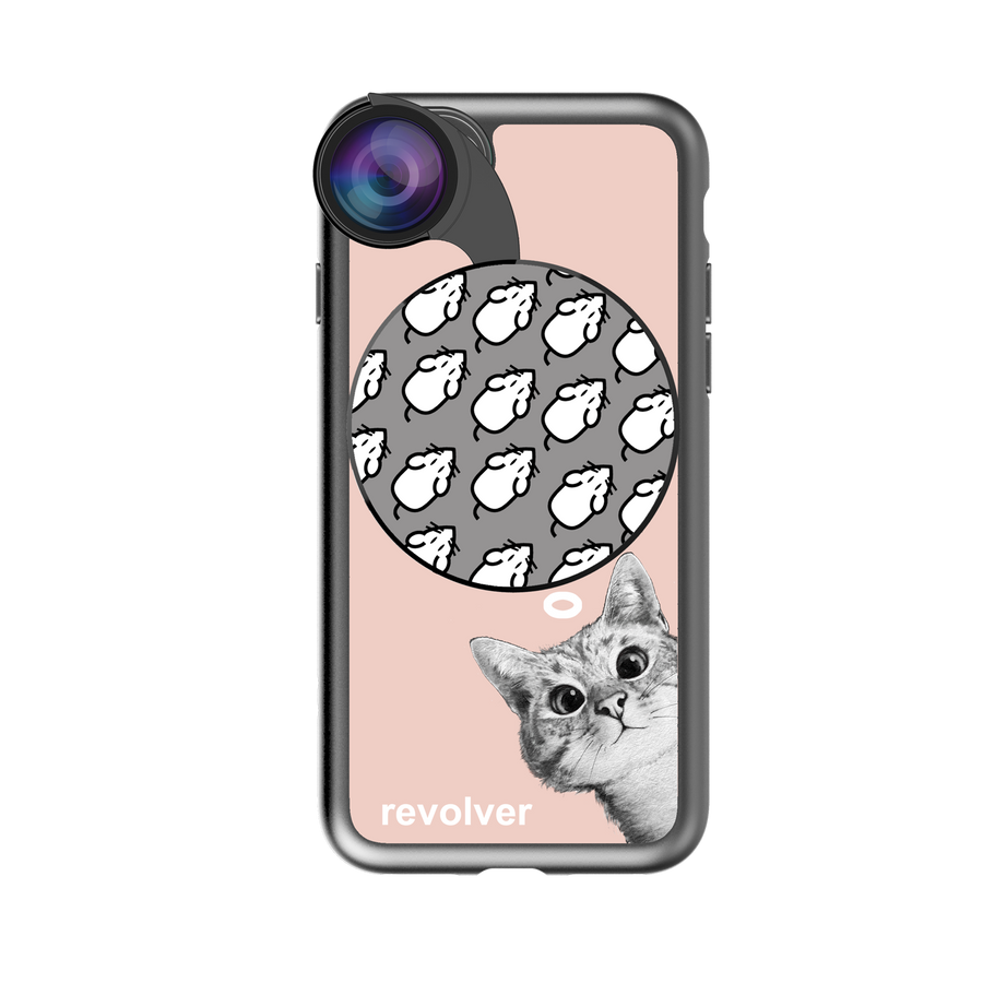 iPhone 7 / 8 Revolver M Series Lens Kit - Sneaky Cat