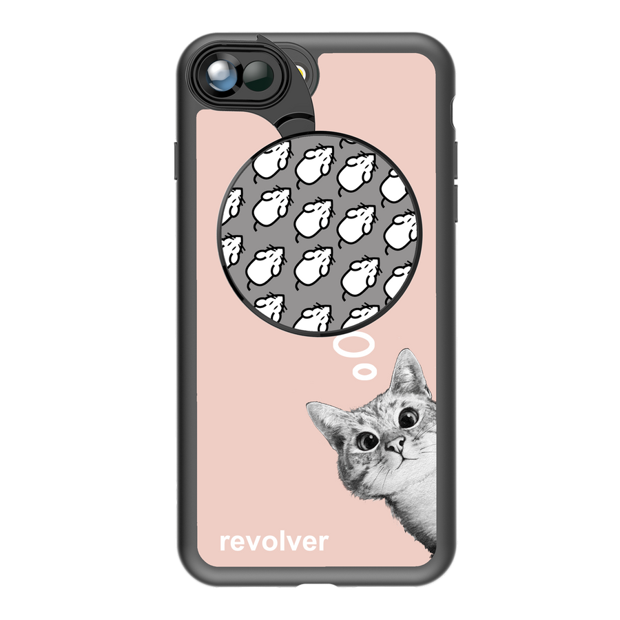 iPhone 7 Plus / 8 Plus Revolver M Series Lens Kit - Sneaky Cat