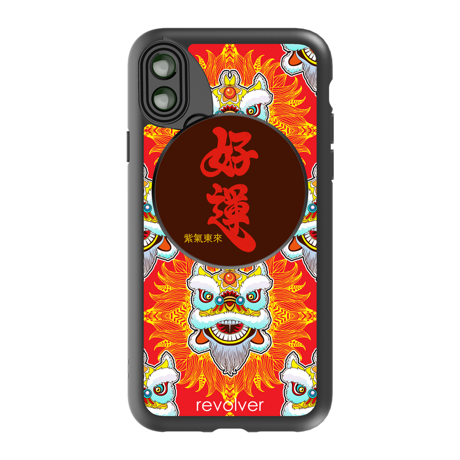 iPhone X / XS Revolver M Series Lens Kit - Kung Hei Fat Choi (Bright Red)
