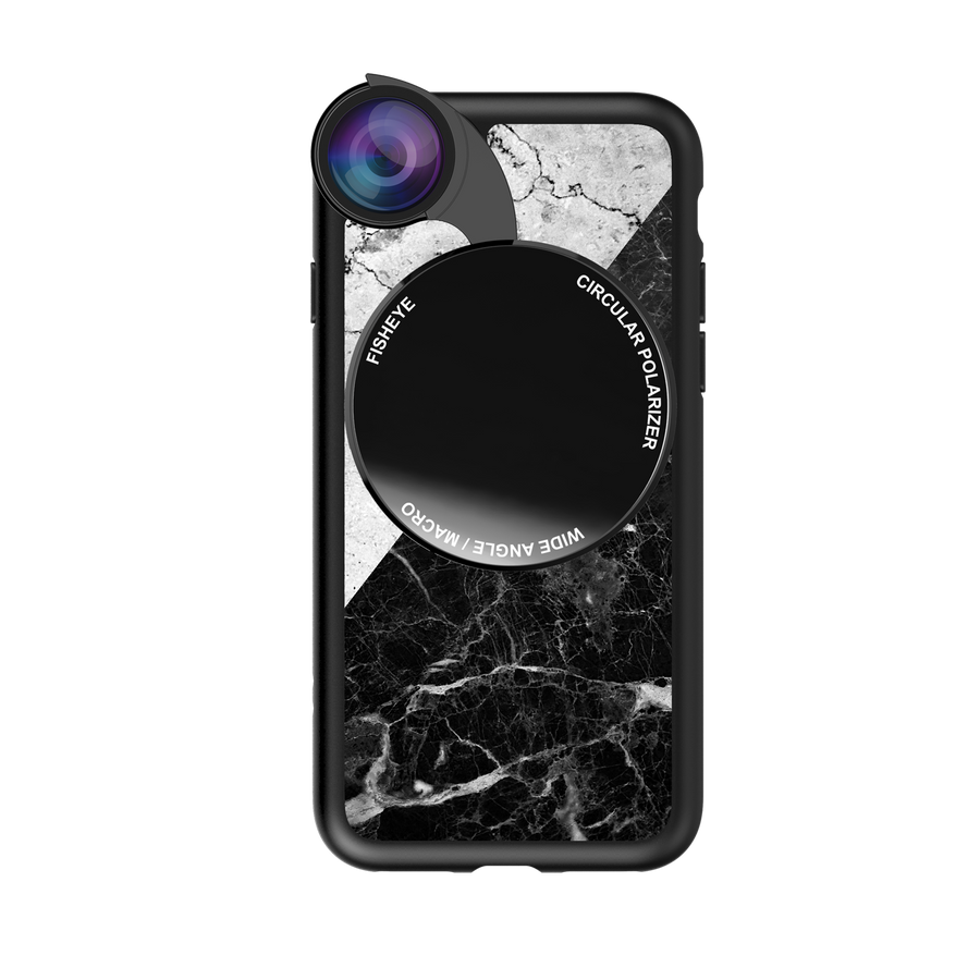 iPhone 7 / 8 / SE 2020 Revolver M Series Lens Kit - Mix Marble