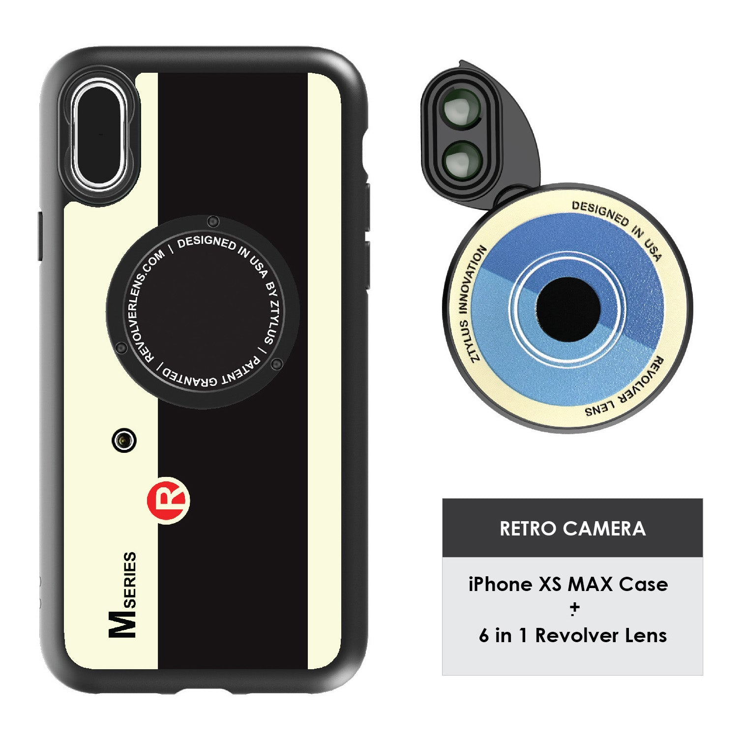 iPhone Xs Max Revolver M Series Lens Kit - Retro Camera
