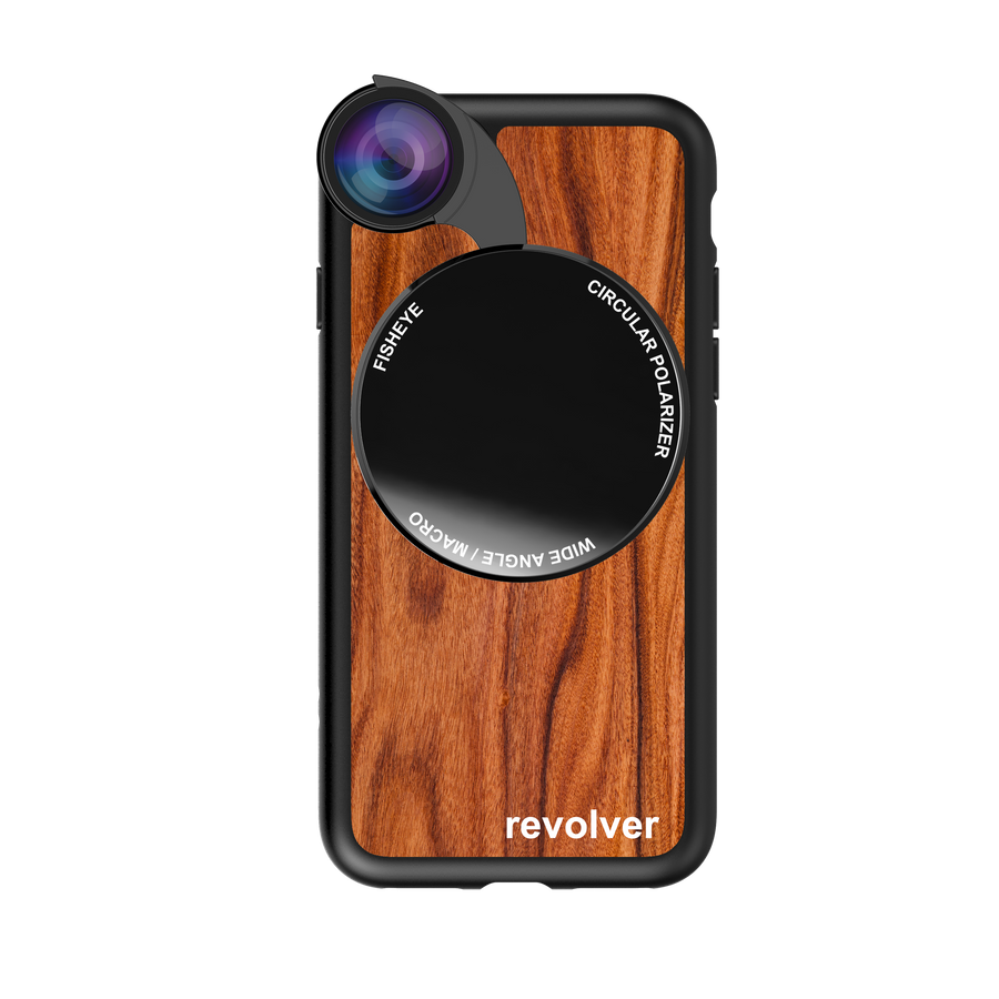 iPhone 7 / 8 Revolver M Series Lens Kit - Wood Pattern