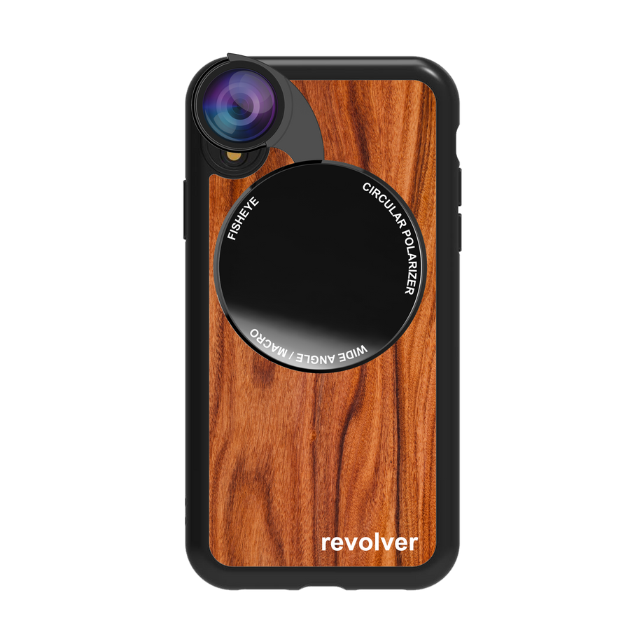 iPhone XR Revolver M Series Lens Kit - Wood Pattern