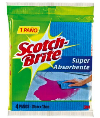 PAÑOS SCOTCH BRITE SUPER ABSORVENTE