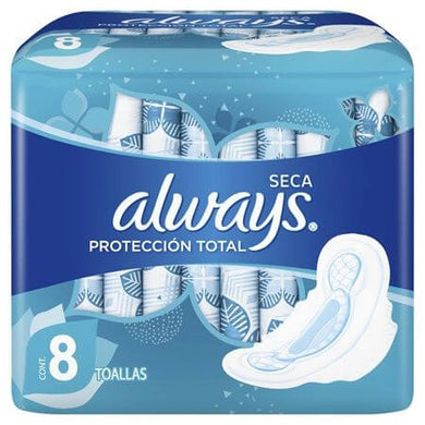 ALWAYS TOALLAS PROTECCION TOTAL SECA