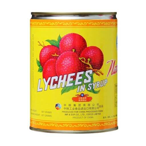 LYCHEES IN SYRUP LATA