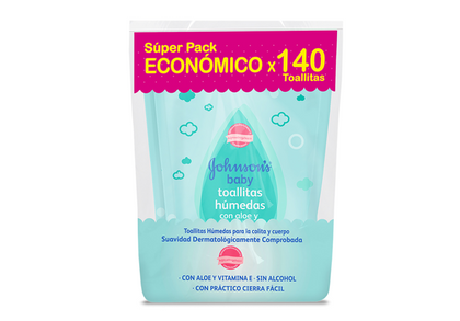 PAÑITOS JOHNSONS HUMEDOS RPTO ALOE WIPES