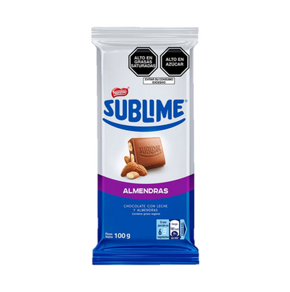 CHOCOLATE SUBLIME TABLETA ALMENDRA NESTLÉ
