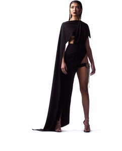 "Black Cape Gown ""Chloe"""