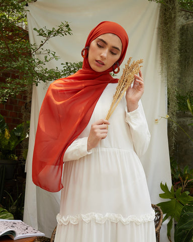 Ayana Instant Hijab in Terracotta