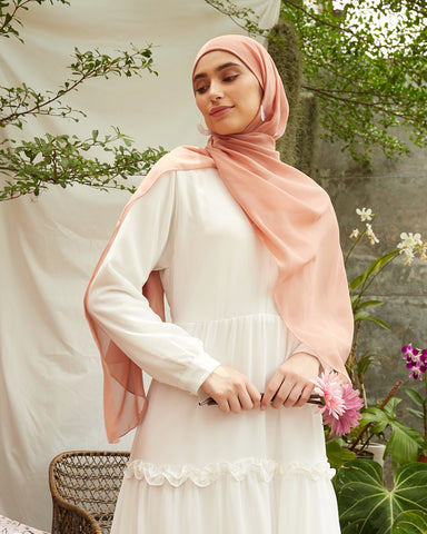 Ayana Instant Hijab in Peach