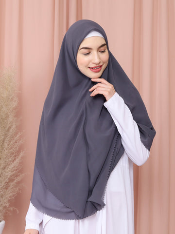 Moira Khimar in Dark Grey