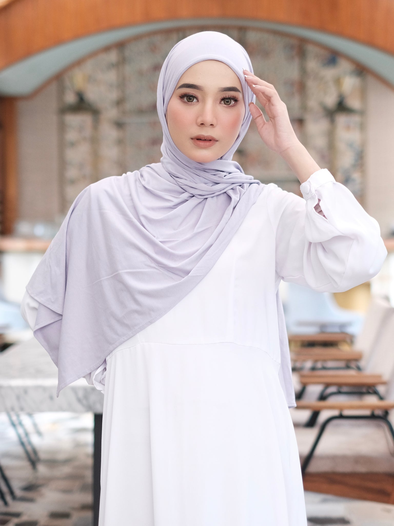 Zaira Instant Hijab in Periwinkle