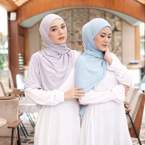 Zaira Instant Hijab in Baby Blue