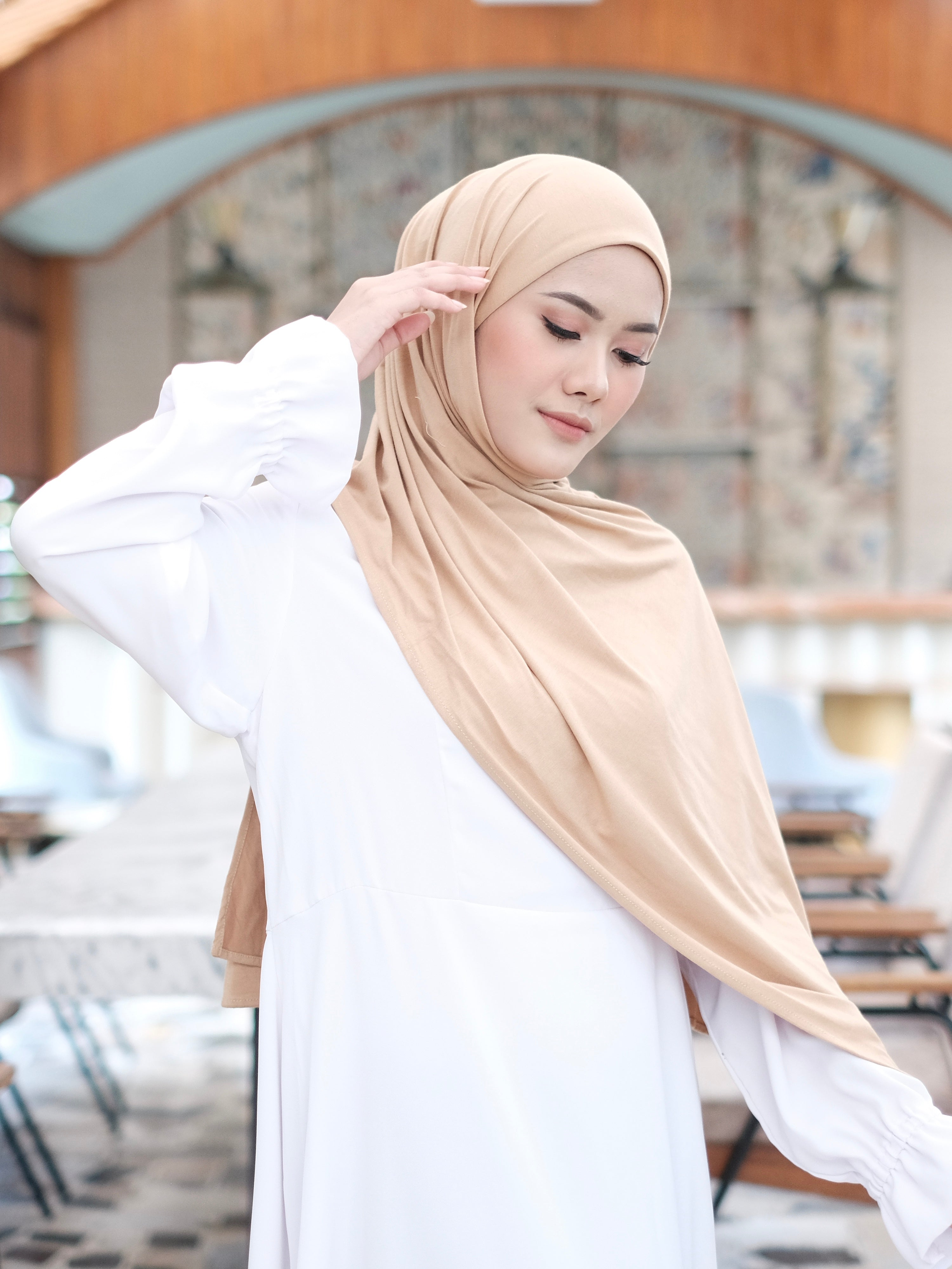 Zaira Instant Hijab in Nude