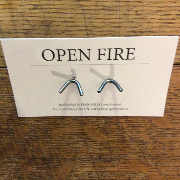 Earrings - Silver Studs By Open Fire