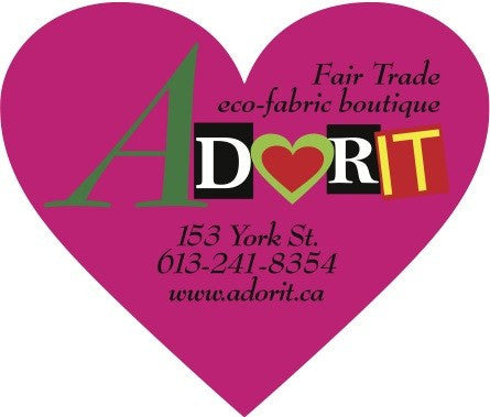 Gift Certificate for Adorit Boutique which provides Ethical Clothing in Ottawa