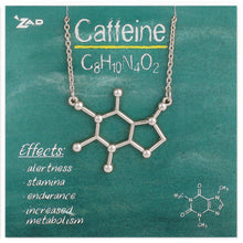 Load image into Gallery viewer, Caffeine Molecule Necklace