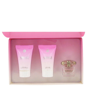 Bright Crystal by Versace Gift Set .17 oz Mini EDT + .8 oz Shower Gel + .8 oz Body Lotion for Women - My Brooklyn