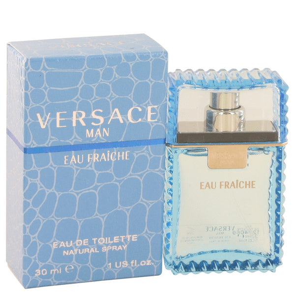 Versace Man by Versace Eau Fraiche Eau De Toilette Spray (Blue) for Men - My Brooklyn