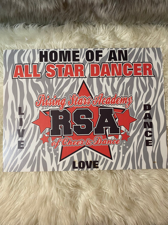 RSA Yard/Window Sign ~ Dancer