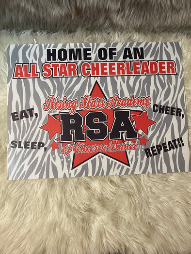 RSA Yard/Window Sign ~Cheer