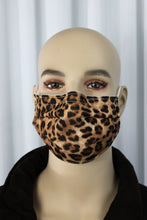 Load image into Gallery viewer, Cheetah Pleated Mask